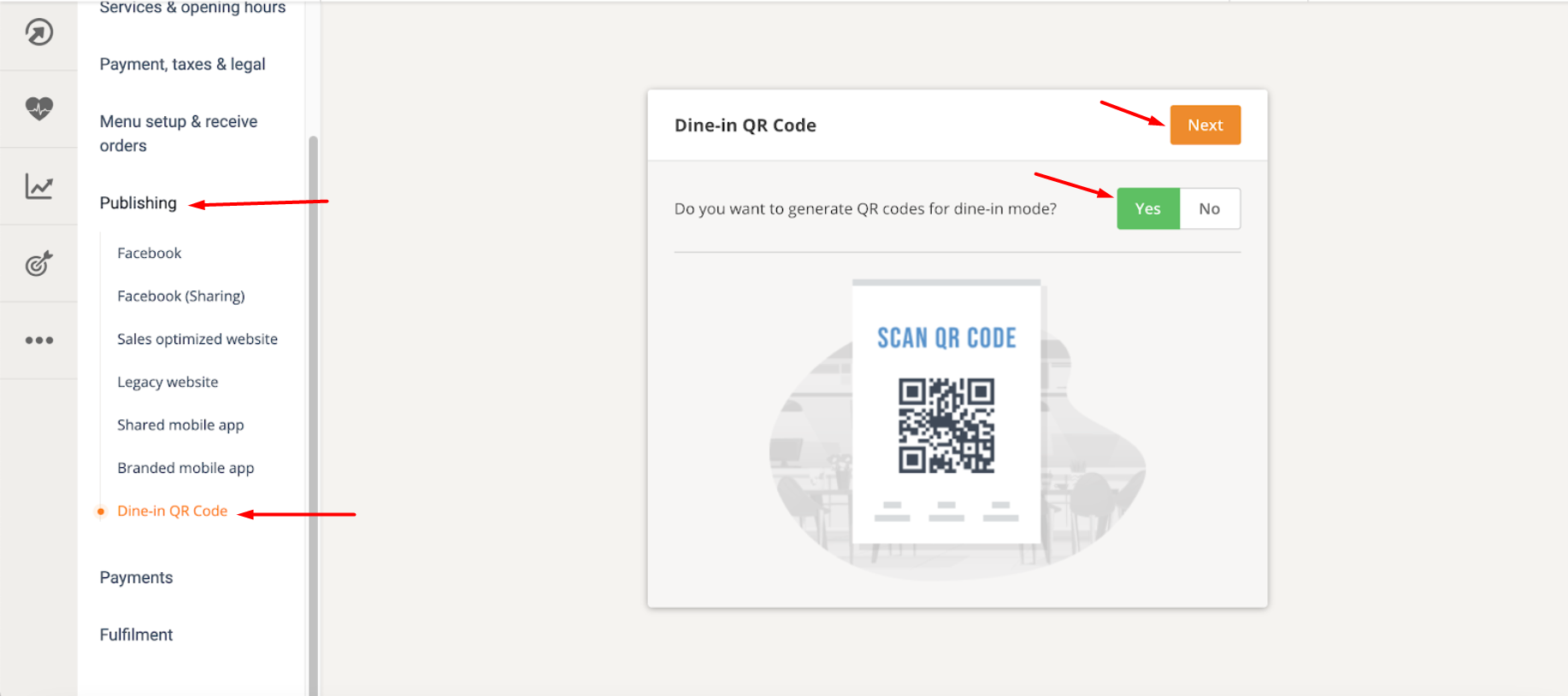 restaurant flyer ideas: qr code flyer