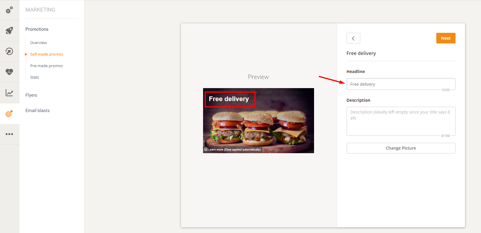 how to set up a restaurant promotion