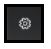 Settings icon - a white cog on black background