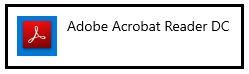 Adobe Acrobat Reader DC icon