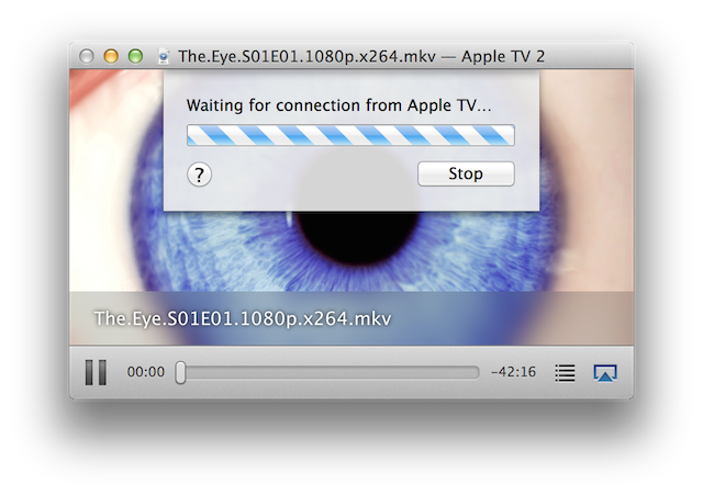 """Beamer — Beamer is """"Waiting for connection from Apple TV…"""""""