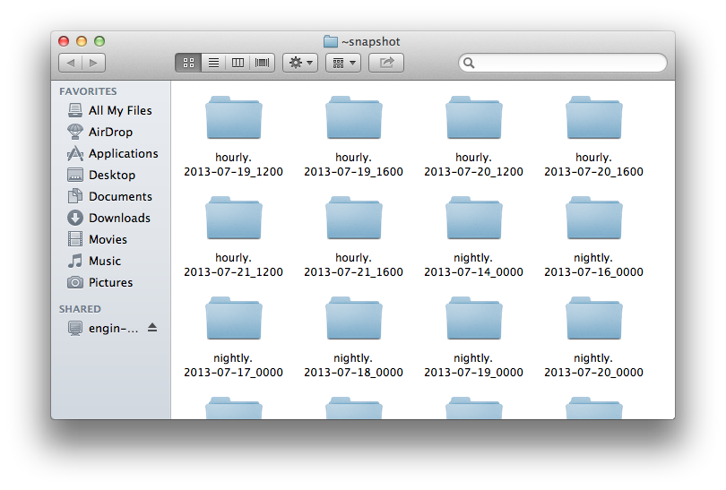 Mac OS Recovery - Folders