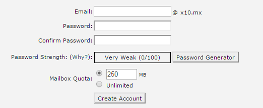 email and password generator