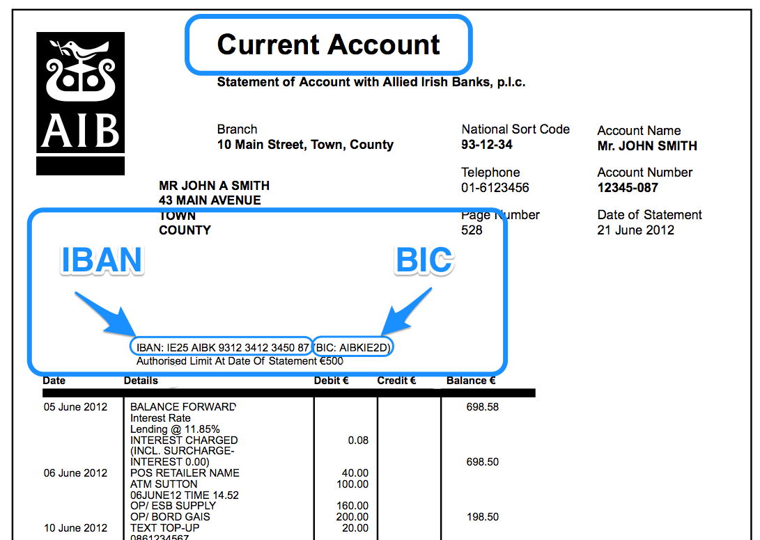 calculate account number from iban