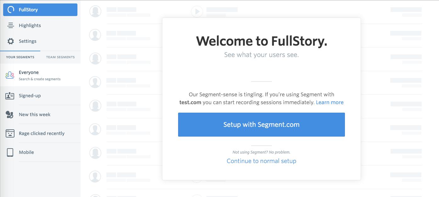 Setup with Segment.com