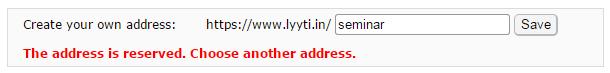 Registration link taken