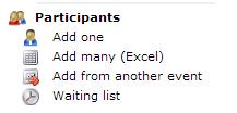 Menu, participants