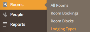 Room Categories - Lodging Type