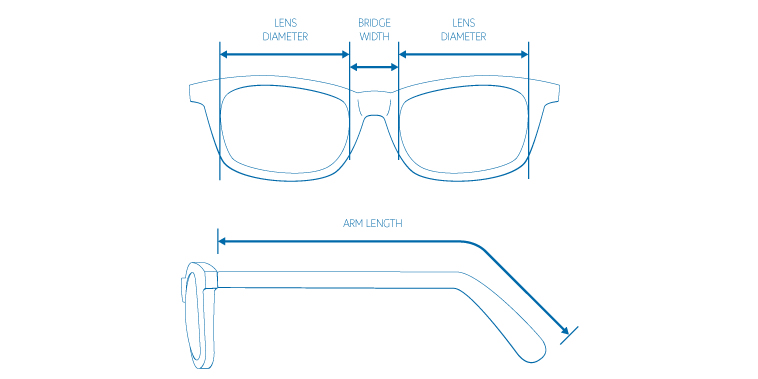 Total Frame Width Glasses : Coastal How To Find Glasses That Fit