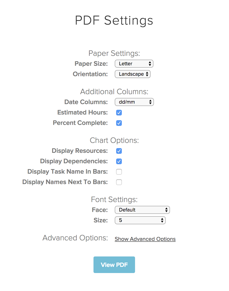 Pdf Options And Customizations