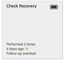 Check Recovery Assessment