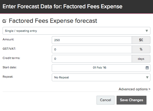 How to Forecast Invoice Factoring with Recourse   FUTRLI Help Guides