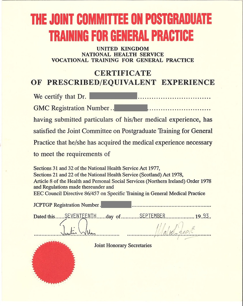 certificate of completion of training cct lantum