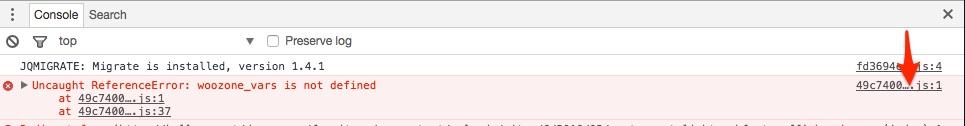 Konsole mit fehlerhafter Datei-URL