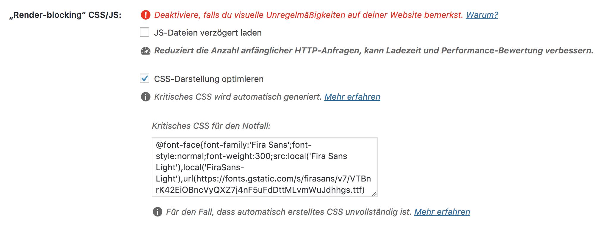 Textfeld mit Fallback-CSS