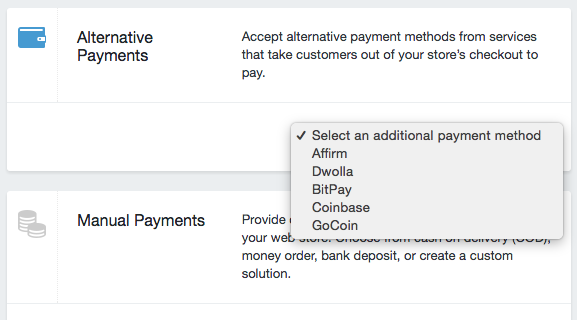 how to change payment methods on shopify