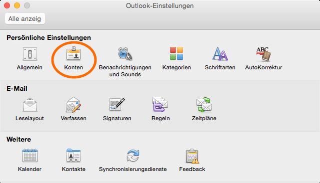 Outlook-Einstellungen
