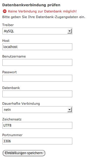 Datenbank Verbindung erstellen