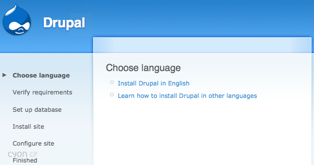 Willkommen im Drupal Installation-Tool