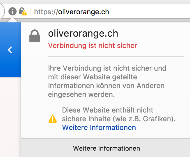 Browserwarnung «Mixed Content»