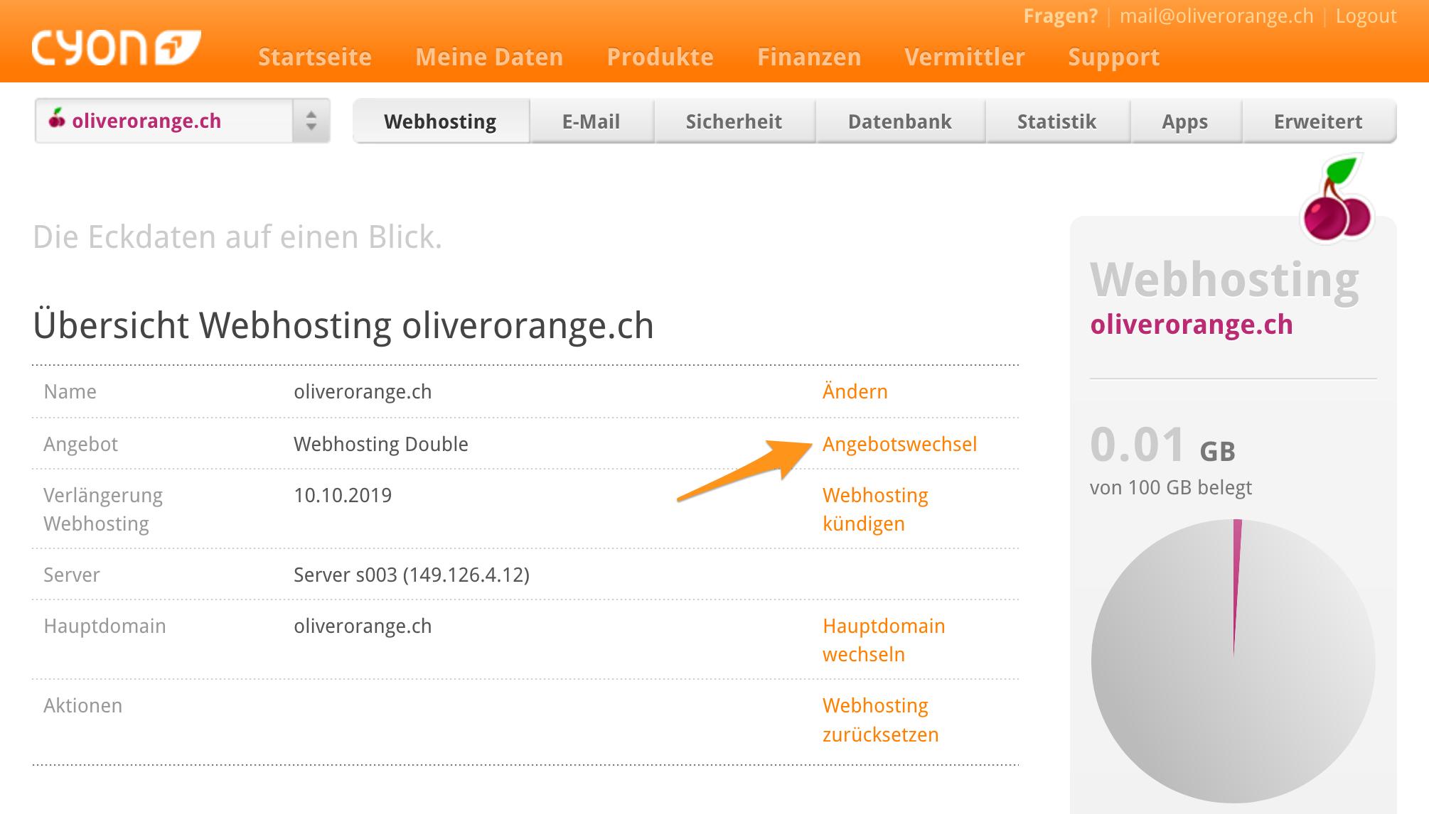 Übersicht oliverorange.ch