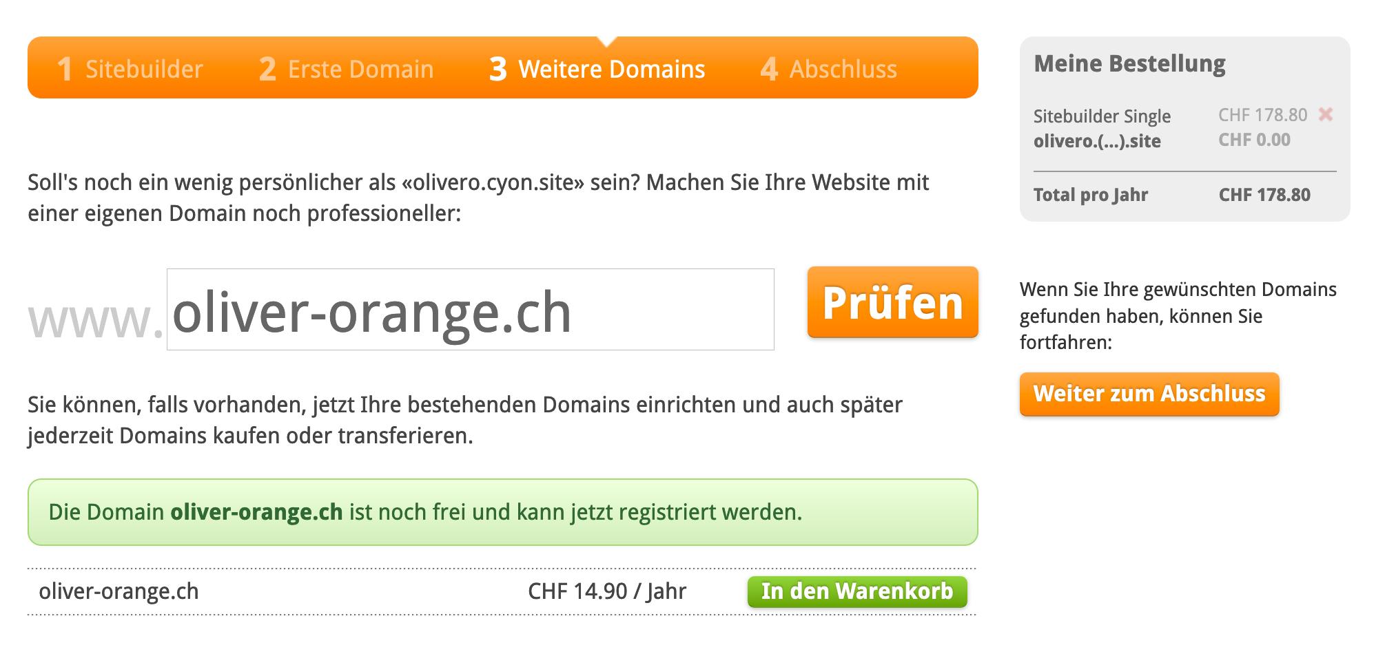 Eigene Domain registrieren und einrichten