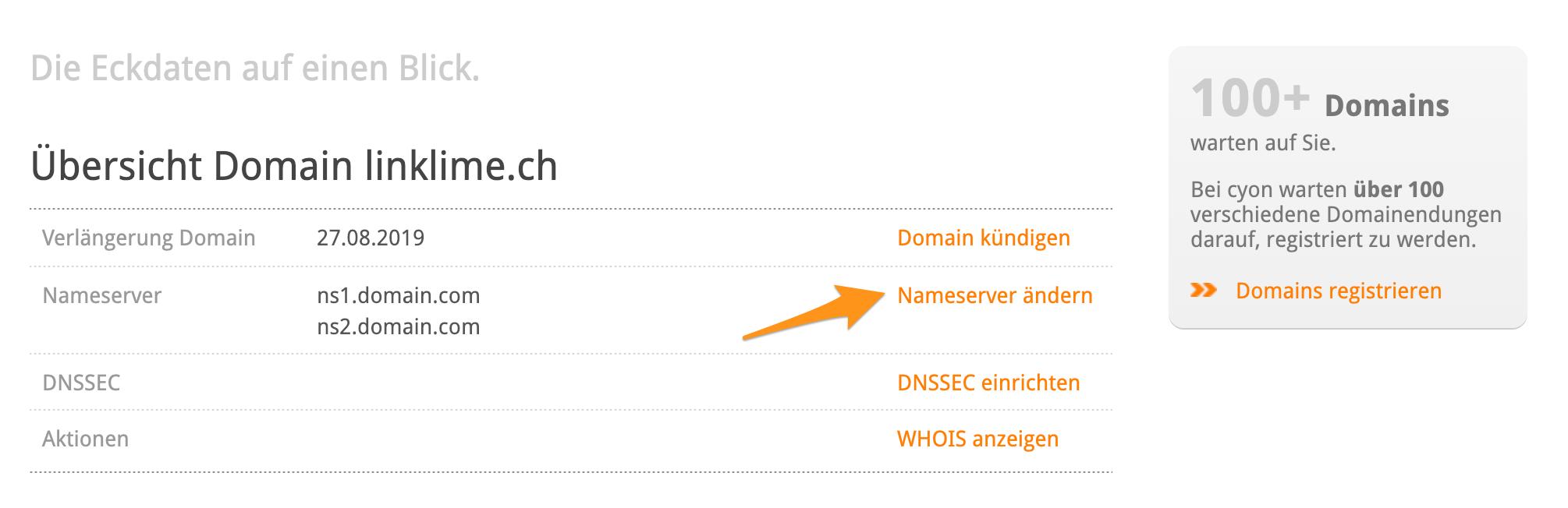 Domain Übersicht