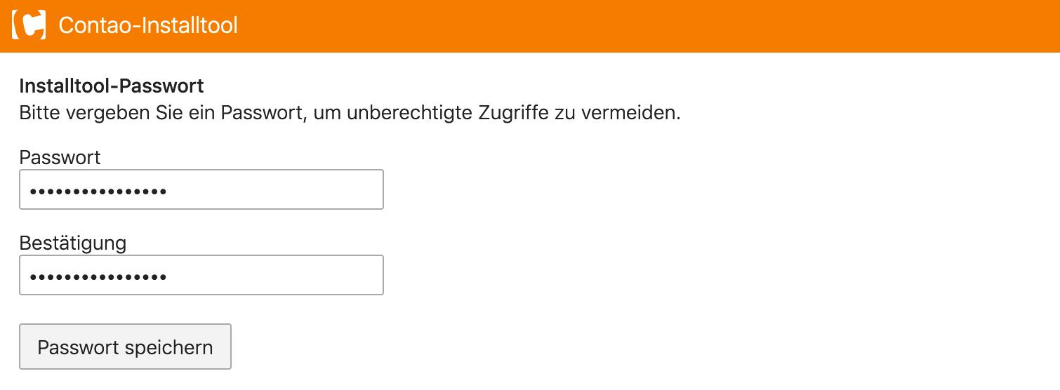 Administrator-Passwort angeben