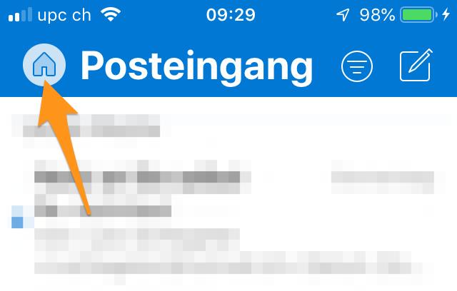 Öffnen Sie die App «Microsoft Outlook»