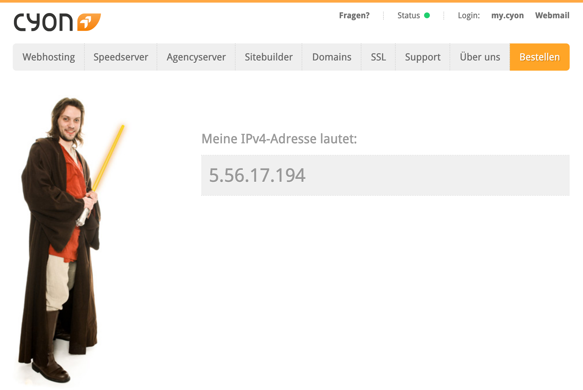 Ihre öffentliche IP-Adresse