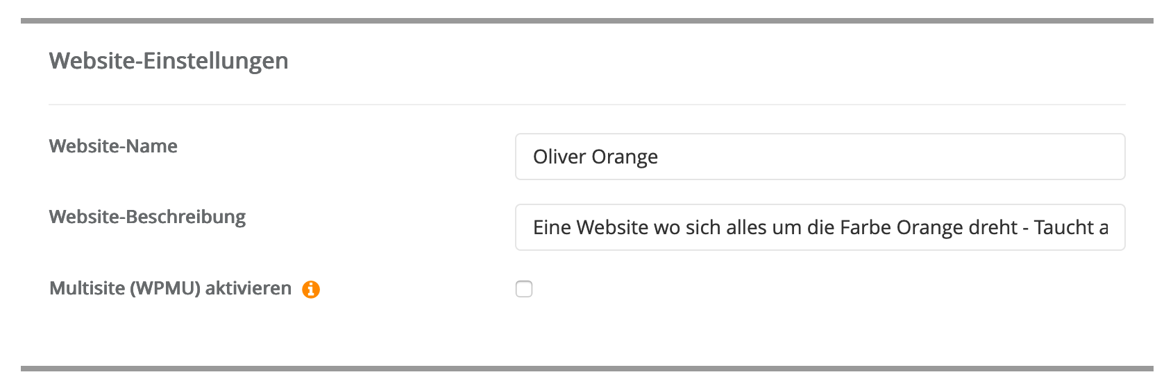 Website-Einstellungen