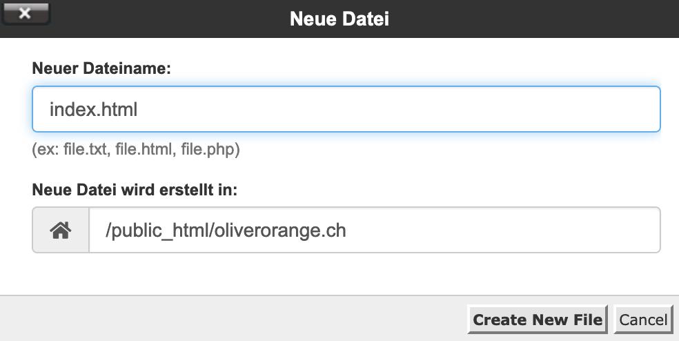Datei- oder Ordnernamen eingeben