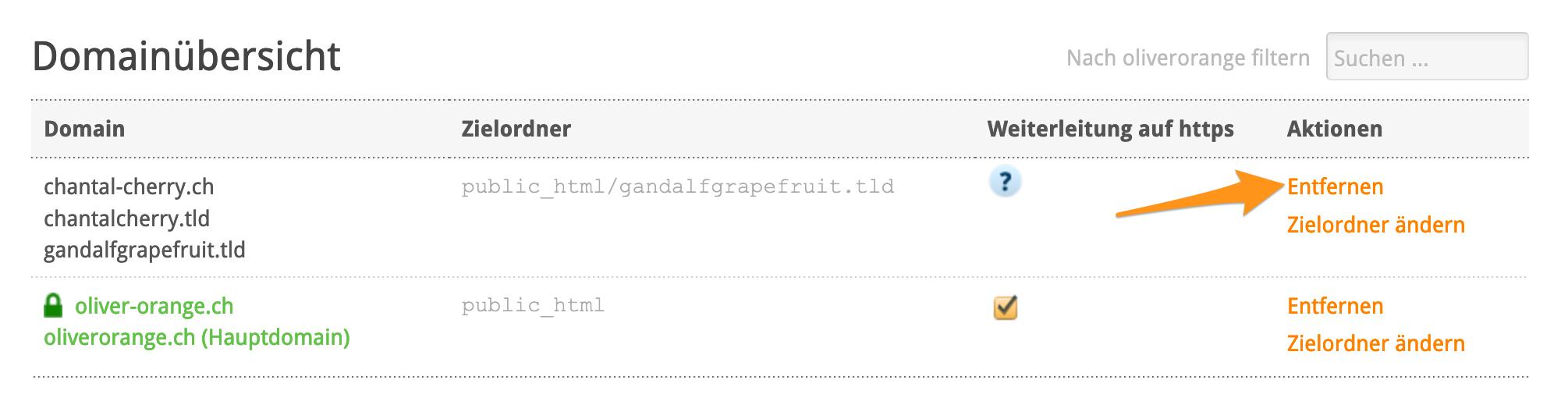 Domainübersicht