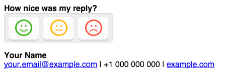 Nicerey CSAT in Apple mail