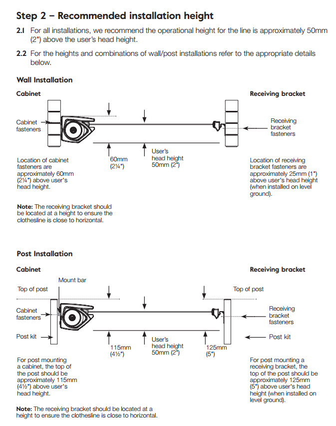 hills retracting 5 clothesline installation guide image 4
