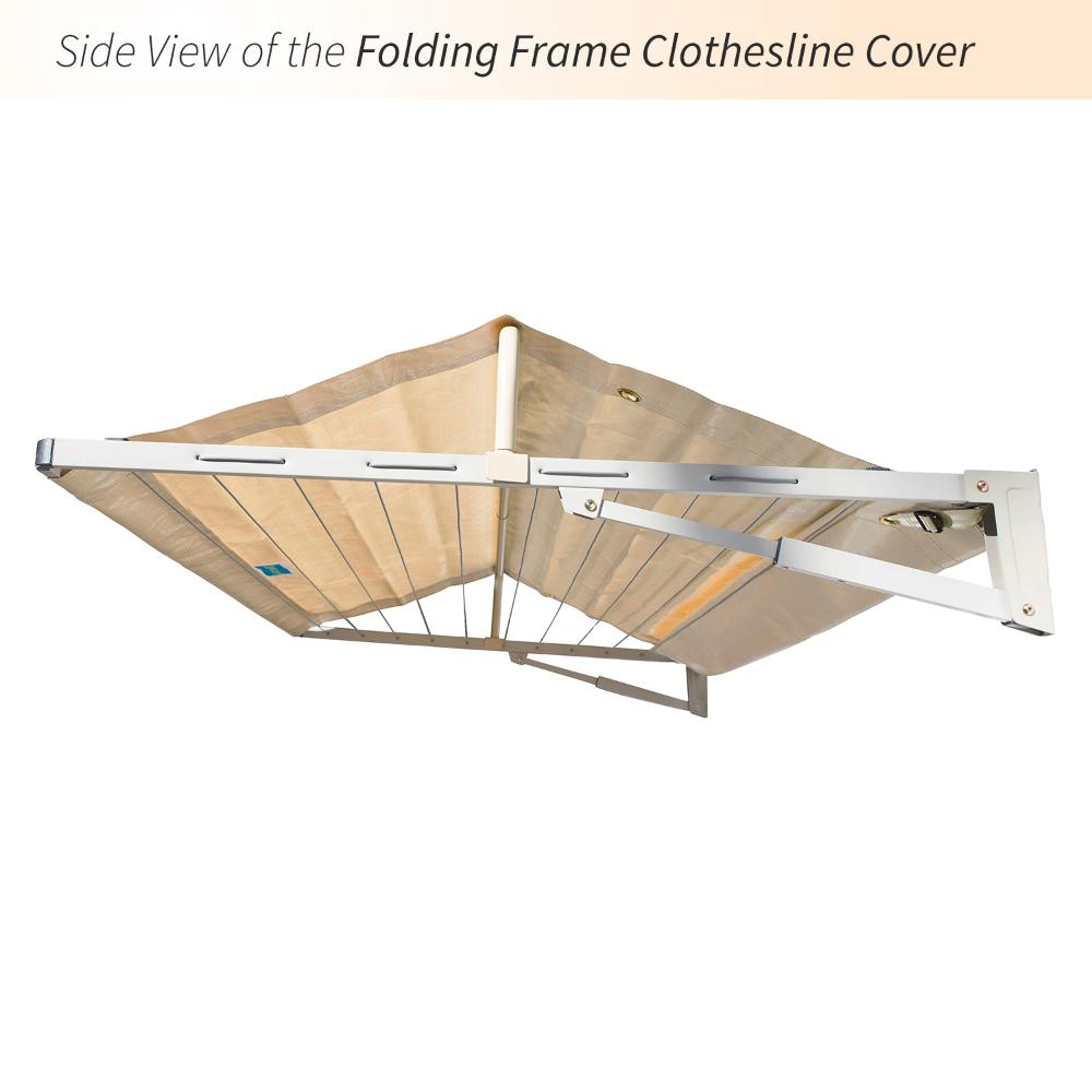 rectangular clothesline cover side view