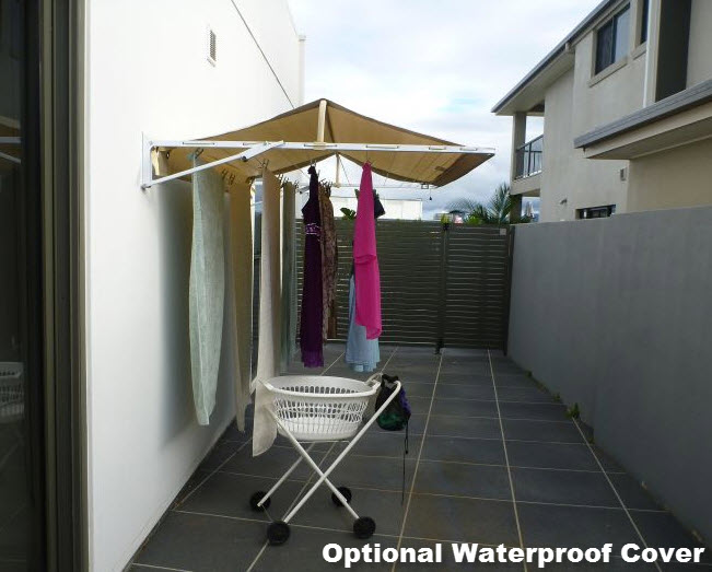 bird poo cover for fold down clothesline