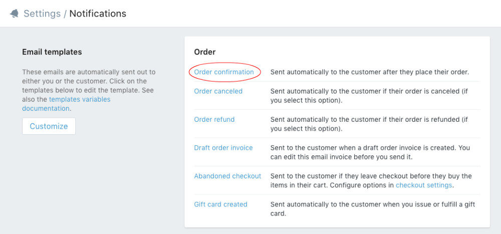 email order template
