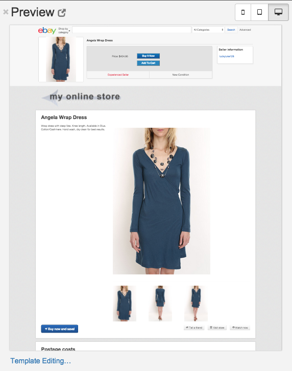 template editing woocommerce codisto