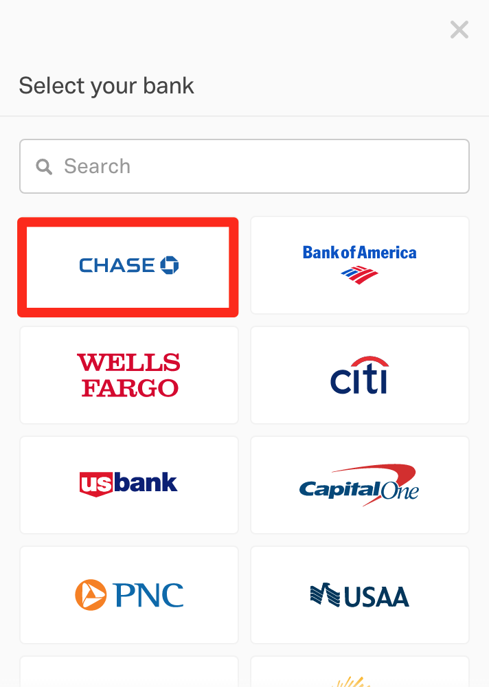 Connect Company Bank Account