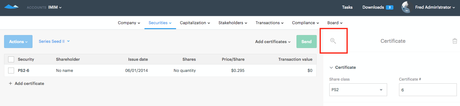 Printing a Share Certificate Template