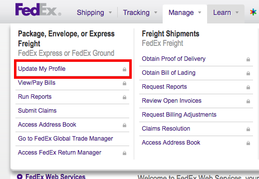 how to know account number fedex