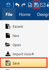 Sharing Files with Hyperlinks in SmartDraw for Windows