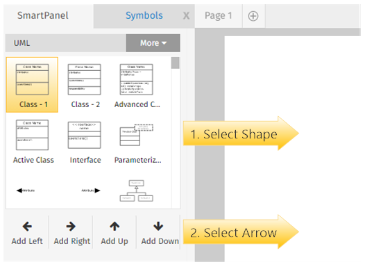 Uml diagram smartdraw for confluence adaptavist documentation add right add up or add down arrows to place your shape into the visual repeat this step using the shapes needed for your diagram ccuart Gallery
