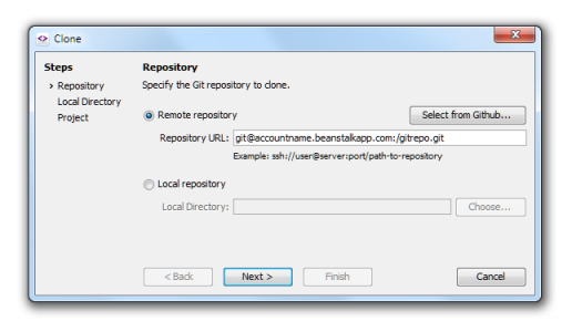 Cloning remote repository in SmartGit