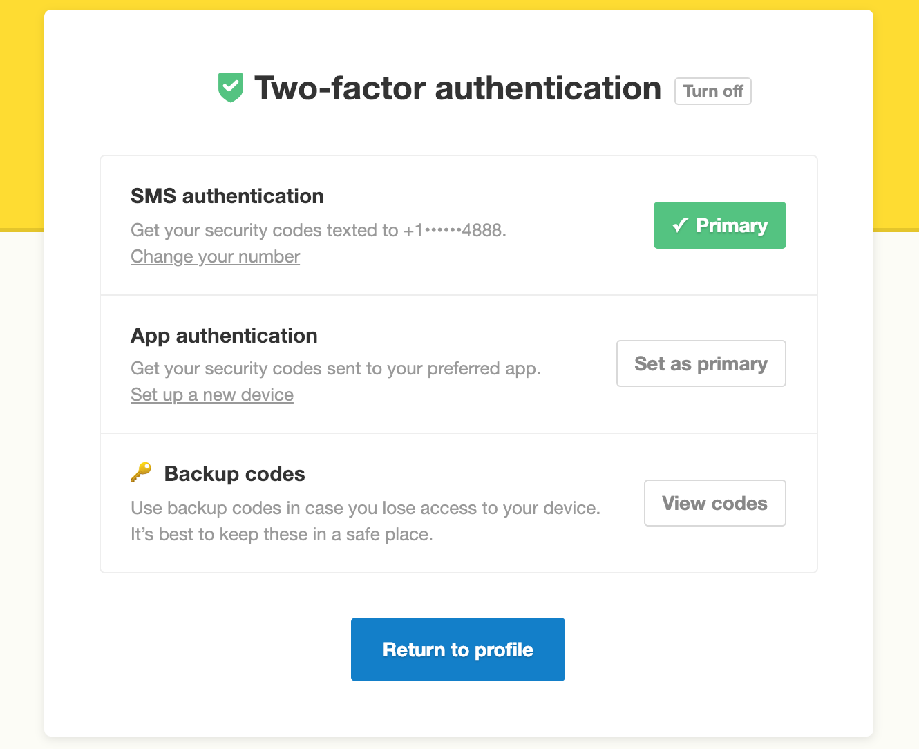 Make App Authentication The Primary Method