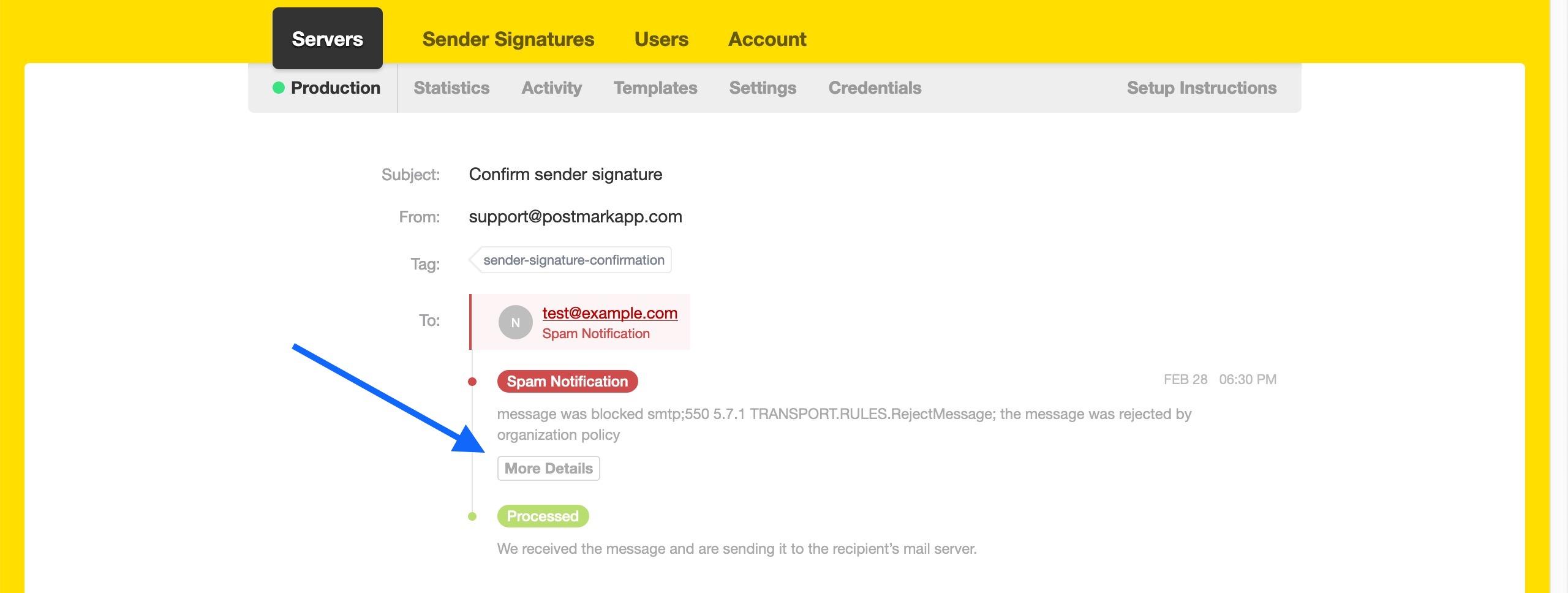 Powermta Domain Details