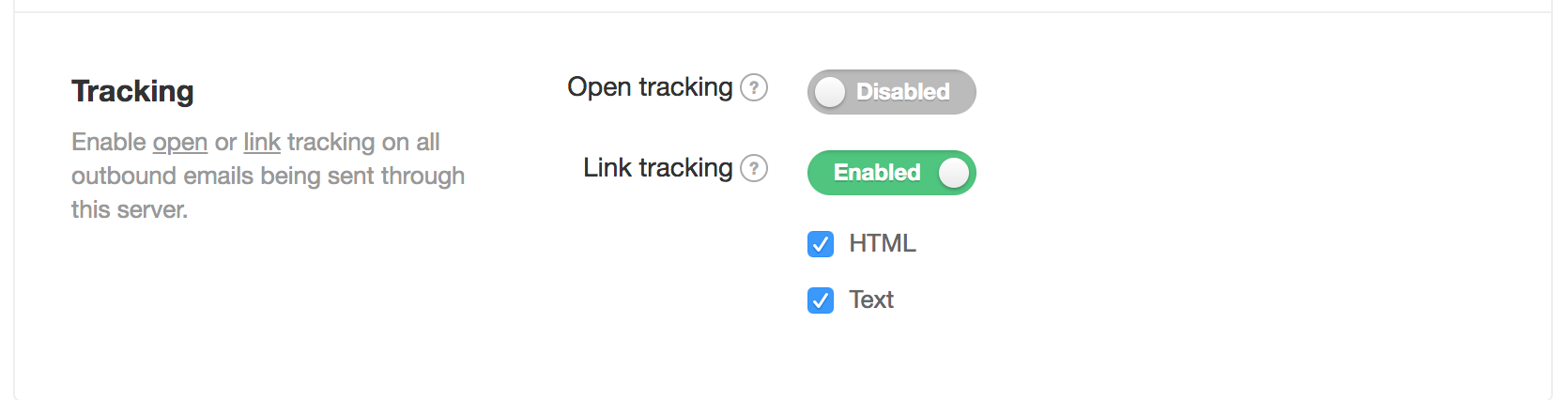 Disable Link Tracking