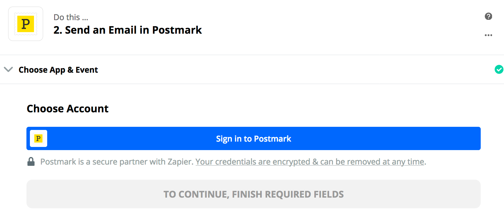 "Click ""Sign in to Postmark"""