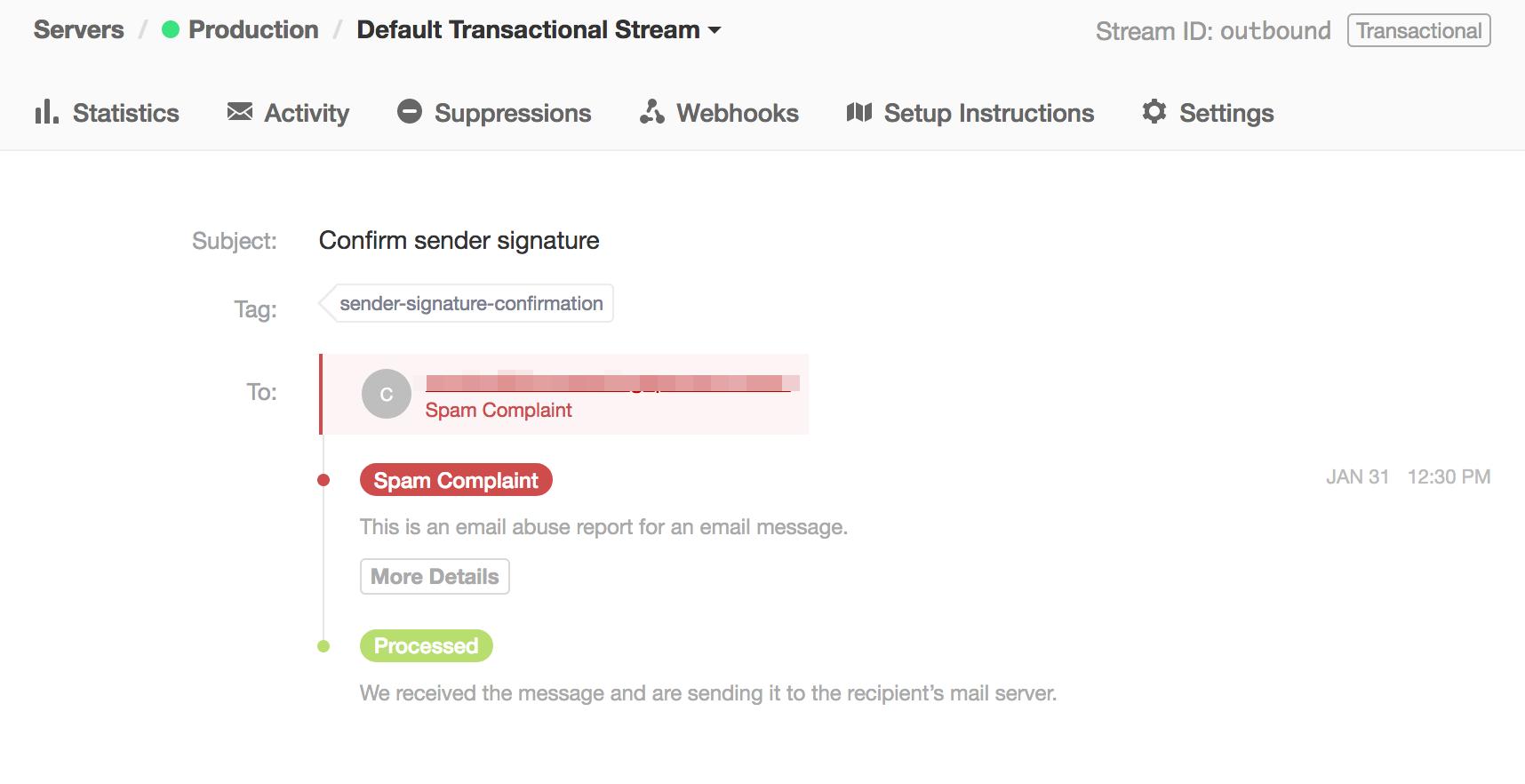 Spam Complaint